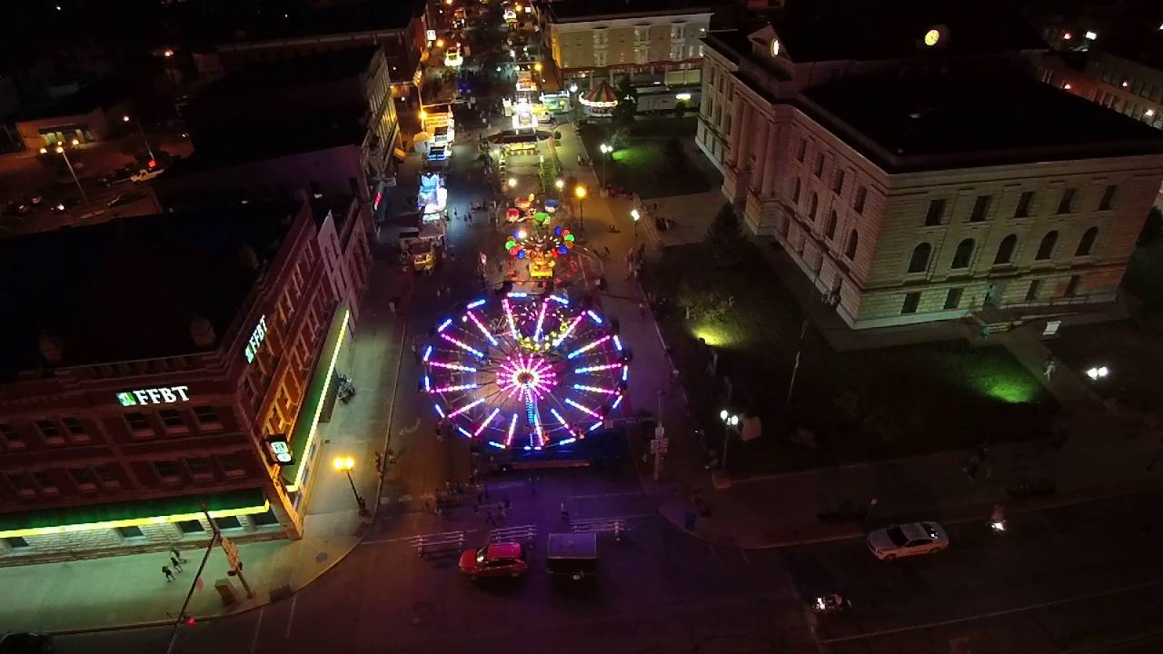 A sky view of the Circus City Festival.