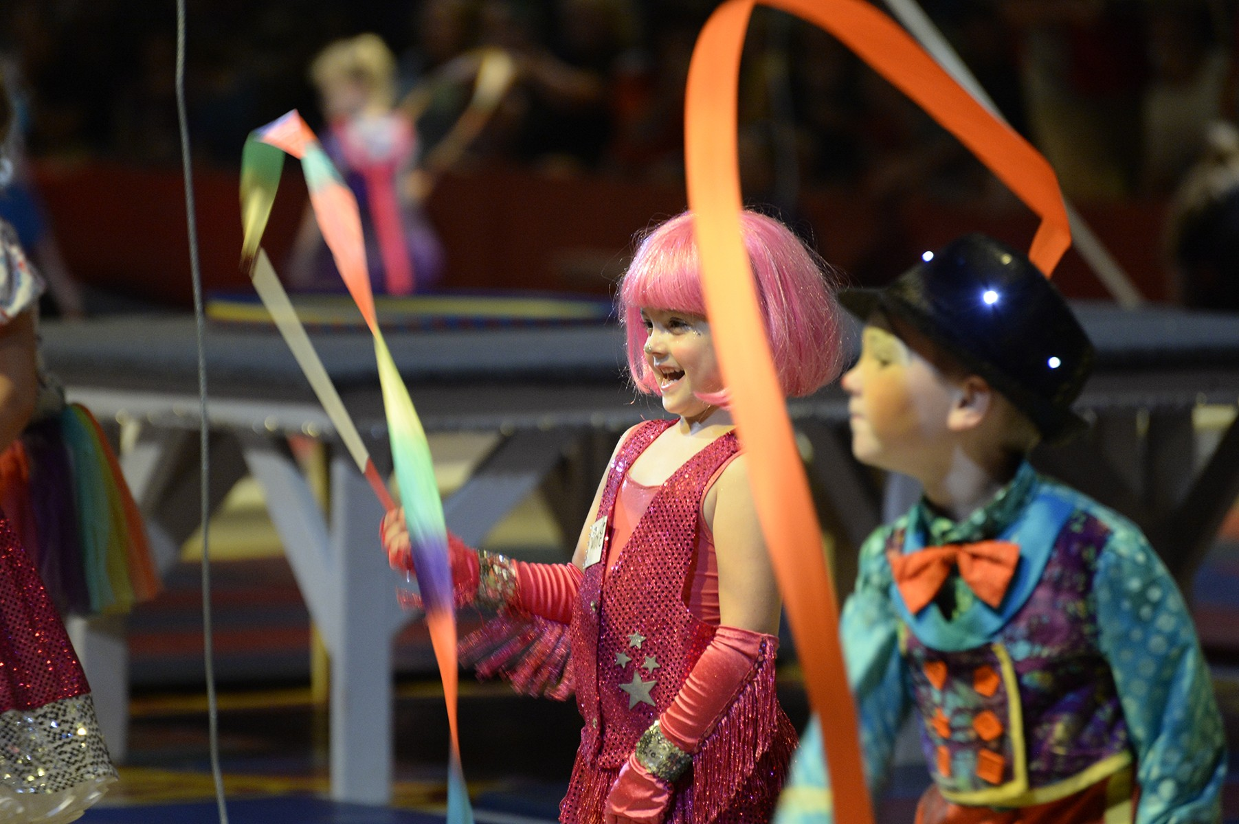 Young kid performers at the Peru Amateur Circus.